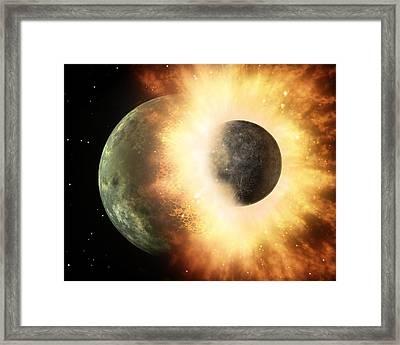 Celestial Impact, Artwork Framed Print by Nasajpl-caltech