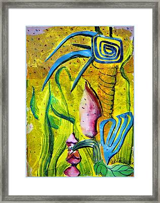 Celestial Palm Tree Framed Print