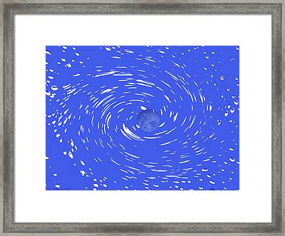 Celestial Swirl In Blue Framed Print by Grace Dillon