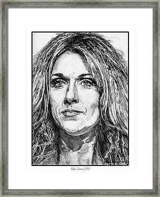 Celine Dion In 2008 Framed Print by J McCombie