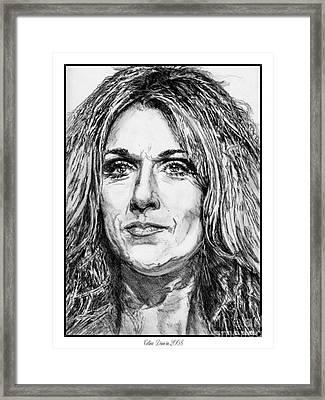 Celine Dion In 2008 Framed Print