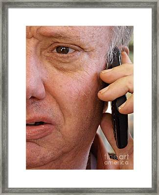 Cell Phone Framed Print by Sarah Loft