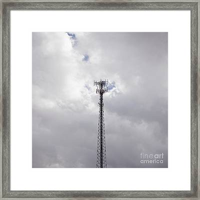 Cell Phone Tower Framed Print