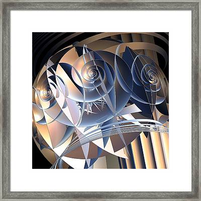 Cellular Orientation Framed Print by Michele Caporaso