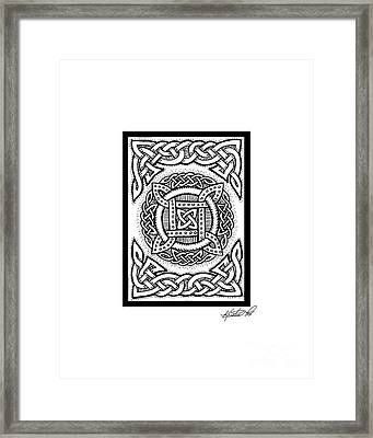Celtic Four Square Circle Framed Print