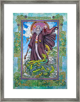 Celtic Irish Christian Art - St. Patrick Framed Print by Jim FitzPatrick