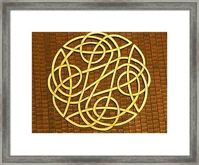 Celtic Knot Framed Print by Keith Cichlar