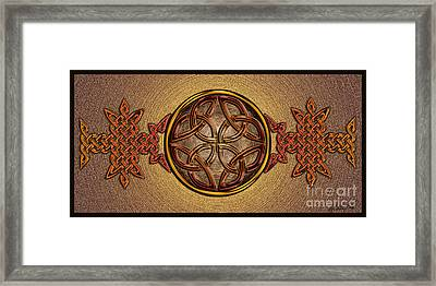 Framed Print featuring the mixed media Celtic Knotwork Enamel by Kristen Fox
