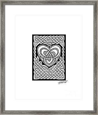 Celtic Knotwork Heart Framed Print by Kristen Fox