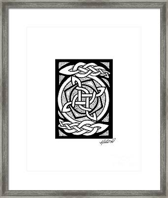 Celtic Knotwork Rotation Framed Print