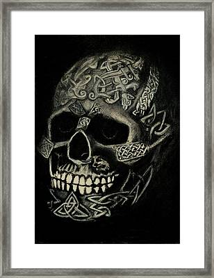 Celtic Skull Framed Print