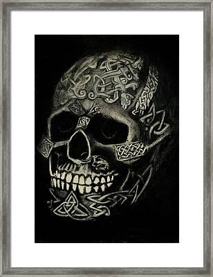Celtic Skull Framed Print by Lynn Hughes