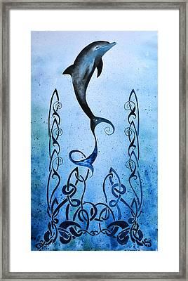Celtic Water Framed Print by Lynn Hughes