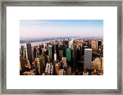 Cement And Glass Framed Print by Ezequiel Rodriguez Baudo