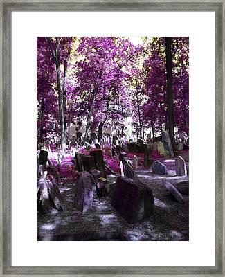 Cementerio Judio Framed Print by Luis oscar Sanchez