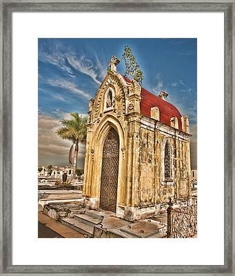 Cemeterio De Colon Framed Print by Beverly Hanson