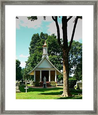 Cemetery At Notre Dame Framed Print