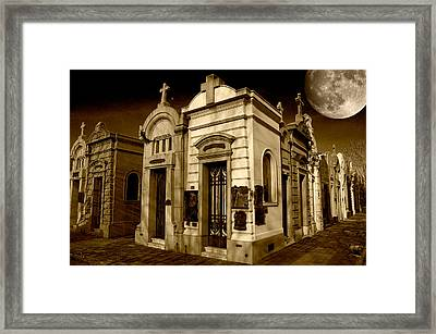 Cemetery Framed Print by Gustavo Fortunatto