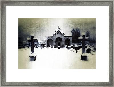 Cemetery Framed Print by Joana Kruse