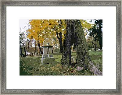 Cemetery Tree Framed Print by Kimberly Mackowski