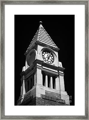 Cenotaph Clock Tower Niagara-on-the-lake Ontario Canada Framed Print by Joe Fox