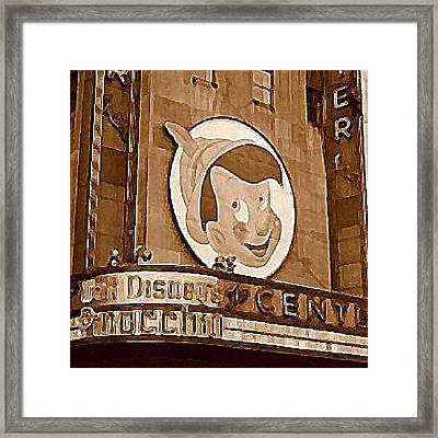 Center Theatre In New York City 1940 Framed Print by Dwight Goss