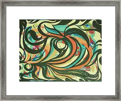 Centered Circle Framed Print by Rachel Carmichael
