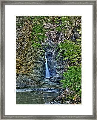 Central Cascade Of Watkins Glen Framed Print by Joshua House