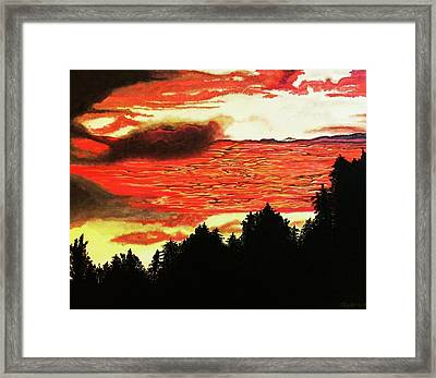 Central Coast Sunset Framed Print