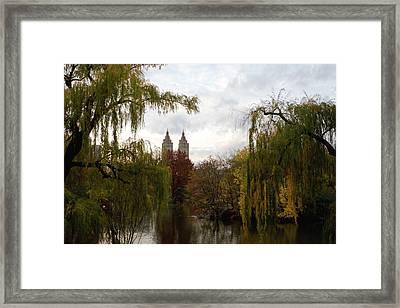 Central Park Autumn Framed Print