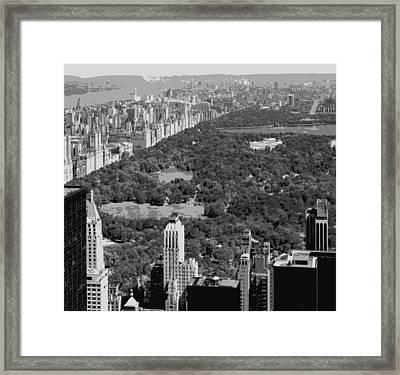 Central Park Bw6 Framed Print by Scott Kelley