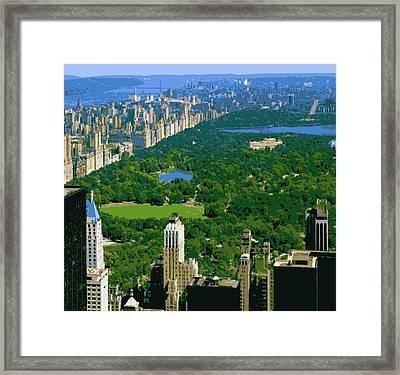 Central Park Color 16 Framed Print by Scott Kelley
