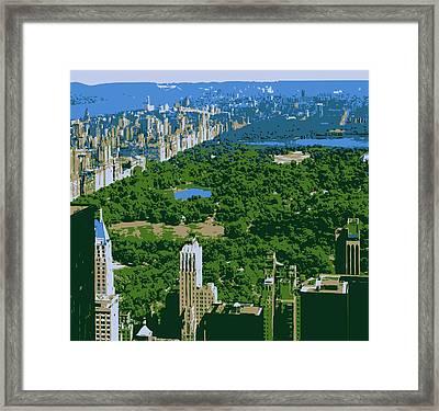 Central Park Color 6 Framed Print by Scott Kelley