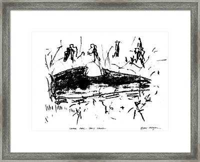 Central Park Early Spring Framed Print