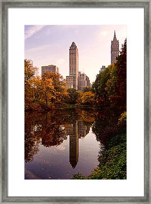 Framed Print featuring the photograph Central Park by Michael Dorn