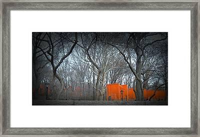 Central Park Framed Print by Naxart Studio