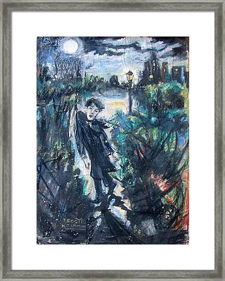 Central Park Nightwalk Framed Print