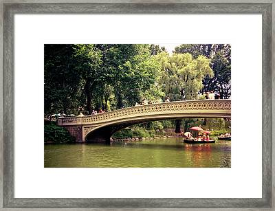 Central Park Romance - Bow Bridge - New York City Framed Print by Vivienne Gucwa
