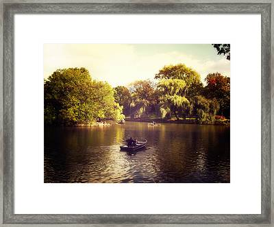 Central Park Romance - New York City Framed Print by Vivienne Gucwa