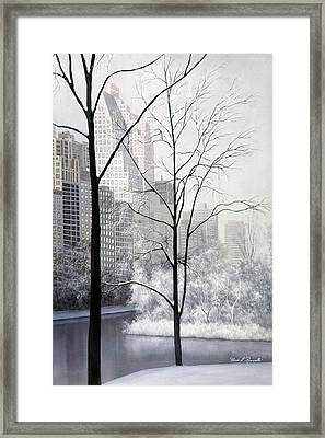 Central Park Vertical Framed Print