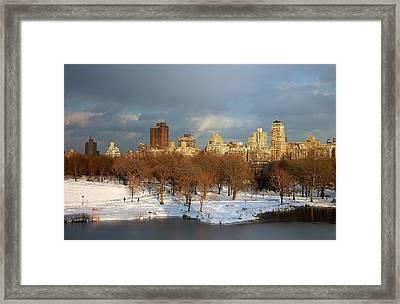 Central Park View Framed Print by Sarah McKoy