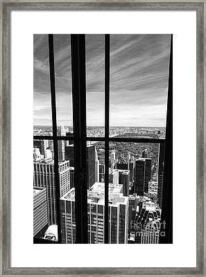 Central Park Window Framed Print by Holger Ostwald