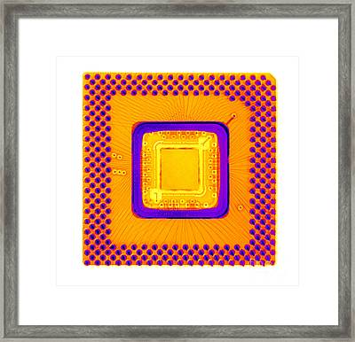 Central Processor Framed Print by Ted Kinsman