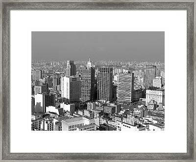 Centro De Sao Paulo Framed Print by Eli K Hayasaka