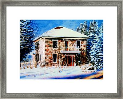 Century Farmhouse Home Framed Print by Hanne Lore Koehler