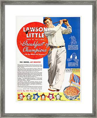 Cereal Advertisement, 1937 Framed Print by Granger