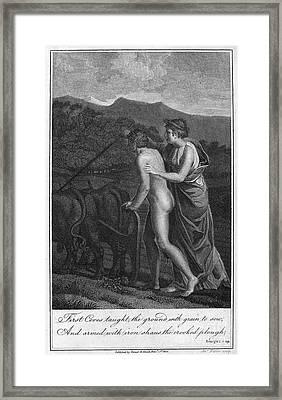 Ceres And Triptolemus Framed Print by Granger