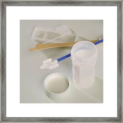 Cervical Smear Tests Framed Print