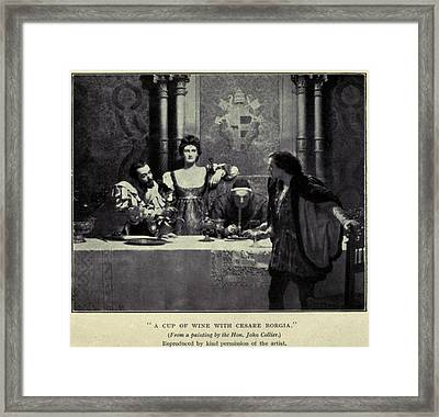 Cesare Borgia, Flanked By His Sister Framed Print