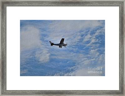 Cessna In Flight Framed Print by Paul Ward